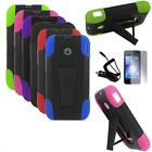Phone Case For Huawei Glory Silicone Corner Cover Stand+ Car Charger + LCD