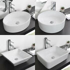 Bathroom Porcelain Ceramic Vessel Sink & Chrome Faucet Combo AB1953 CUPC NSF Opt