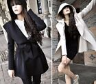 Hitz women lady Pleated Outerwear Hoodie Jackets Slim coats Outerwear Parka
