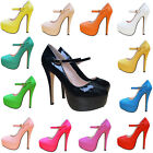 LADIES GRILS PARTY HIGH HEELS PLATFORMS STILETTOS PUMPS COURT SHOES SIZE UK2-9