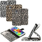 Leopard Flip Leather Wallet Stand Case Cover For for Samsung Galaxy S5 SV i9600