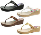 New Ipanema Brasil Hibiscus Womens Wedge Flip Flops ALL SIZES AND COLOURS
