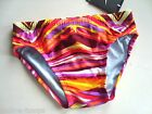 NIKE Red Rio Geo Swim Brief Men's Competition Swimsuit NWT Size 28 Fully Lined
