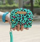 Round Point Print Clutch Checkbook Change Coin Bag Women Purse Handbag Wallet