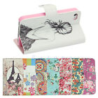 PU Leather Vintage Style Wallet Flip Case Cover Stand For iPhone 4/4S 5/5S