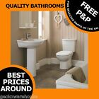 Toilet Pan Bathroom WC Cistern, Basin Sink and Pedestal 4 Piece Pottery Suite