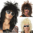 W218 Rockin Dude Punk Rock Star 80s Mens Adult Costume Wig
