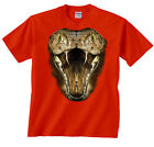 Cobra Shirt Big Cobra Snake Face Profile T-Shirt Animals Tee Pets Snakes