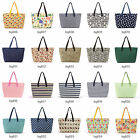 Ladies Designer Canvas Summer Beach Shoulder Bag Tote Shopper Carry Day Handbag