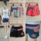 C82 Women's Trends Breathable Elastic Waist British Flag Tide Cozy Shorts