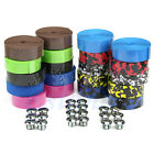 1Pair Bike Tape Bicycle Bar Cork Handlebar Wrap Ribbon with 2 Bar Plugs Hot