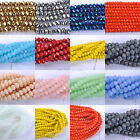 20-100pcs Top Quality CZECH Crystal FACETED Rondelle Spacer BEADS 6MM 8MM 10MM
