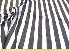 Discount Fabric Lycra Spandex 4 way stretch Charcoal and White Striped 201LY