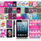 For Apple iPad mini Art Design Image PATTERN HARD Case Back Cover + Pen