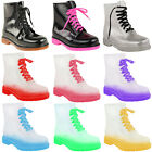 NEW WOMENS LADIES FESTIVAL WELLIES JELLY BOOTS FLAT LOW ANKLE RAIN SHOES SIZE