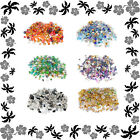 Mixed Bead Pack - Crystal & Metal - Choose Colour - Over 300 Beads 4mm-6mm