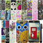 For LG Optimus L90 D405 D415 Rubberized PATTERN HARD Case Phone Cover + Pen