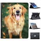 Golden Retriever Dog Sitting With Tongue Out Leather Case For iPad 2, 3 & 4