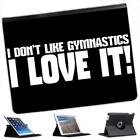 I Don't Like Gymnastics... I Love It! Folio Leather Case For iPad 2, 3 & 4
