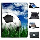 Football Sat on Green Grass with Blue Cloudy Sky Leather Case For iPad 2, 3 & 4