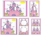 PRINCESS CASTLE PINK AND PURPLE  # K 1 LIGHT SWITCH COVER PLATE