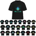 Sound Activated Led Light Up Shirt Short Sleeve Edm Glow Rave Party Cotton Tee