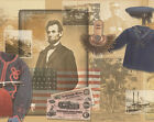 Historic American Civil War Mural-Style Pre-Pasted Wallpaper Wall Border
