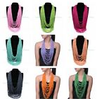 Fashion Jewelry Many Colors Long Chain Layered Handmade Bead Adjustable Necklace