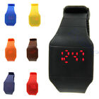Men Women Nice Gift Hot Fashion Touch Red LED Digital Silicone Wrist Watch