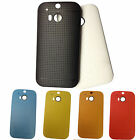 MESH NET TPU GEL CASE COVER SKIN FOR HTC ONE M8 (2014) + Screen Protector