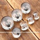 1Pair Acrylic Anchor Double Flared Ear Plugs Tunnel Flesh Stretcher Body Jewelry