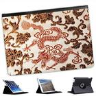 Silk Dragons Folio Wallet Leather Case For iPad Air & Air 2