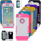 Colorful Hybrid Rugged Heavy Duty Hard Case Cover for iPhone 5C 5S 5 6s 6 Plus