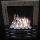 Electric Fire Replacement Ceramic XL White Pebbles Coals Universal RCF Cert Gas