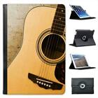 Wooden Guitar Music Folio Leather Case For iPad Mini & Retina