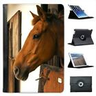 Horse In A Stable Folio Leather Case For iPad Mini & Retina
