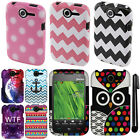 For Pantech Renue P6030 Design PATTERN HARD Case Phone Cover Accessory + Pen