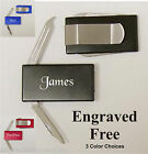 12 ea. Personalized Mens Money Clip/Knife Groomsman Gift Engraved Free