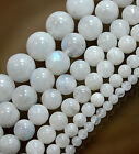 4mm 6mm 8mm 10mm 12mm Natural Smooth Moon Stone Round Beads 15.5