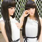 Cool Black/Brown/Flaxen Straight Hair Full Long Wigs Cosplay Costume Daily Wear