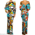 BUTTERFLY MULTIWAY Reversible PLUNGING Convertible MAXI DRESS Off Shoulder S M L