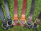 "Handmade Ring Leather Belt Men Women 1 1/2"" 1.5 Inch Wide Black Brown YOUR SIZE!"