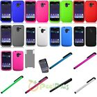 Silicone Rubber Soft Case Cover Skin For ZTE Avid N9210+LCD Film+Stylus Pen