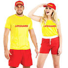 Beach Lifeguard Adults Fancy Dress Patrol Rescue Mens Ladies Costumes Outfits