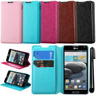 For LG Optimus F6 D500 MS500 Wallet LEATHER Skin POUCH Case Phone Cover + Pen