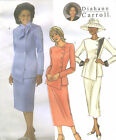 Misses Lined Jacket Straight Skirt Sewing Pattern Shaped Hem Waistband 4081