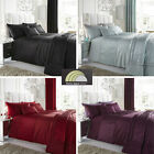 Stylish Sahara Faux-Silk Bedding Sets & Matching Accessories Choice of 4 Colours
