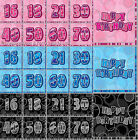 16 Glitz Pink Blue Black & Silver 3ply Paper Napkins Serviettes Birthday Party