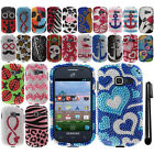 For Samsung Galaxy Discover S730G Centura S738C DIAMOND HARD Case Cover + Pen