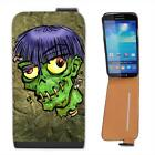 Zombie Monster With Worms In Head Halloween Leather Flip Case for Samsung S4